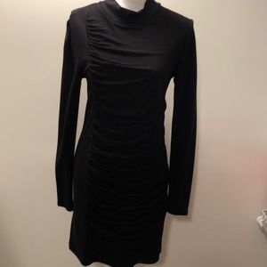 Vivienne Tam mockneck ruched knit dress